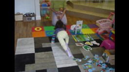 Reference: my daughter crawling towards mommy